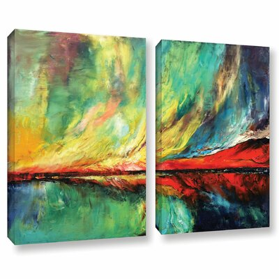 Aurora 2 Piece Painting Print on Wrapped Canvas Set