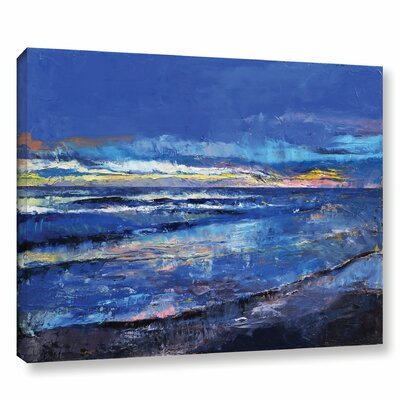 Midnight Blue Painting Print on Wrapped Canvas Size: 14