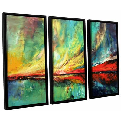 Aurora 3 Piece Framed Painting Print on Canvas Set