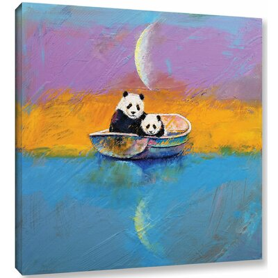 'Panda Lake' by Michael Creese Painting Print on Wrapped Canvas Size: 10