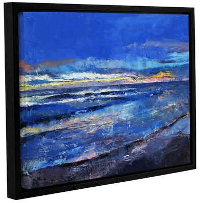 Midnight Blue Framed Painting Print Size: 14