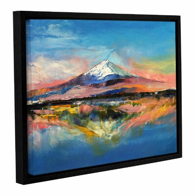'Mount Fuji' by Michael Creese Framed Painting Print on Canvas Size: 14