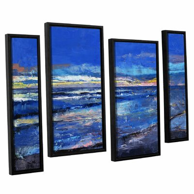 'Midnight Blue' Michael Creese 4 Piece Framed Painting Print on Canvas Set Size: 24