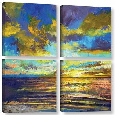 Sunset Key Largo 4 Piece Painting Print on Wrapped Canvas Set Size: 36