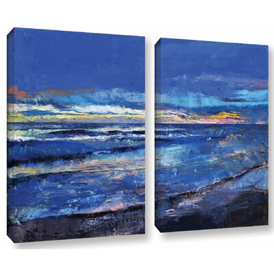 Midnight Blue 2 Piece Painting Print on Wrapped Canvas Set Size: 18