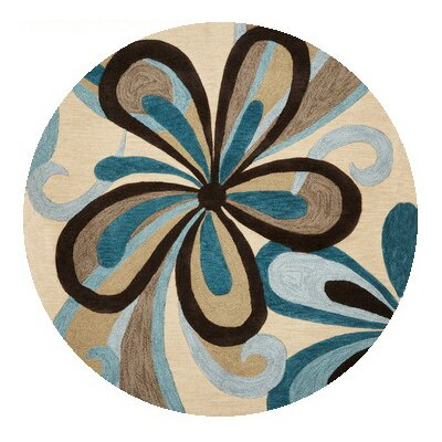 Pugh Hand-Tufted Sand/Teal Area Rug Rug Size: Rectangle 79 x 99