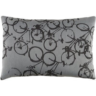 Davey Pedal Power Lumbar Pillow Cover Color: GrayNeutral