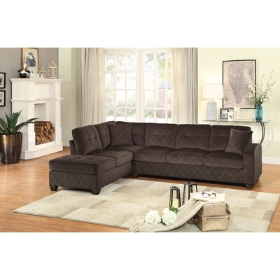 Tchantches Reversible Sectional Upholstery: Chocolate