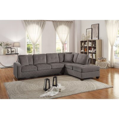 Tchantches Reversible Sectional Upholstery: Taupe