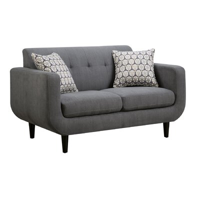 Tucanae Loveseat Upholstery: Charcoal