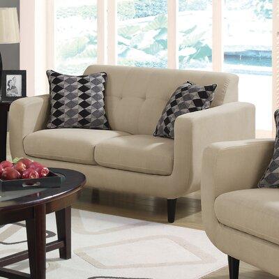 Tucanae Loveseat Upholstery: Beige