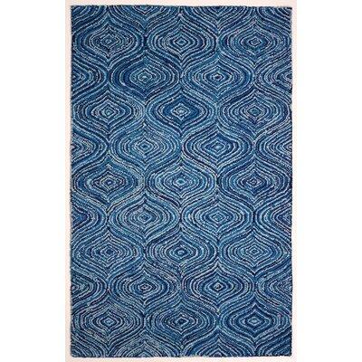 Kleio Hand-Tufted Blue Area Rug Rug Size: 5 x 8