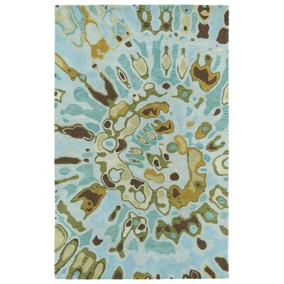 Virginis Teal Area Rug Rug Size: Rectangle 36 x 56
