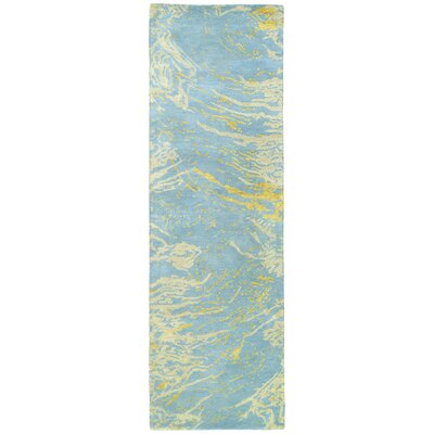 Virginis Blue Area Rug Rug Size: Runner 26 x 8