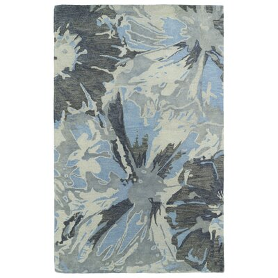 Virginis Grey Area Rug Rug Size: Rectangle 36 x 56