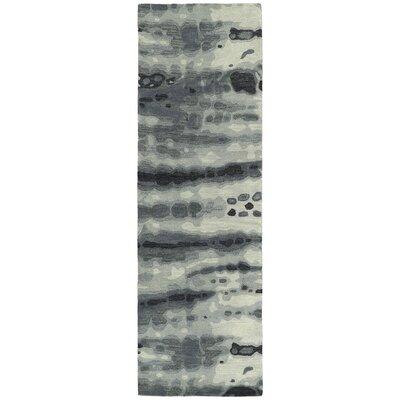 Virginis Gray & Ivory Area Rug Rug Size: Runner 26 x 8