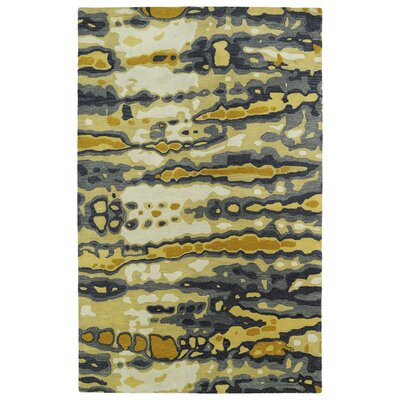 Virginis Gold/Gray Area Rug Rug Size: Rectangle 36 x 56