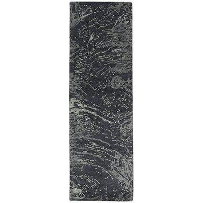 Virginis Hand-Tufted Charcoal Area Rug Rug Size: 36 x 56