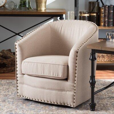 Chira Classic Retro Upholstered Barrel Chair Finish: Beige