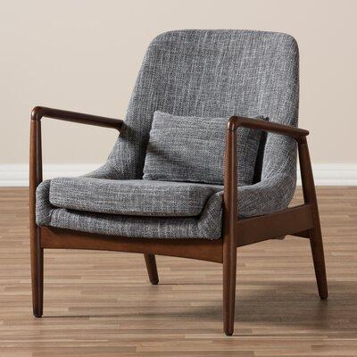 Ellen Mid-Century Modern Upholstered Leisure Armchair Upholstery: Grey