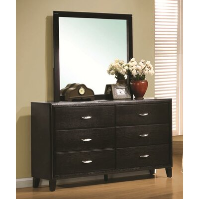 Volkonskaya 6 Drawer Dresser with Mirror