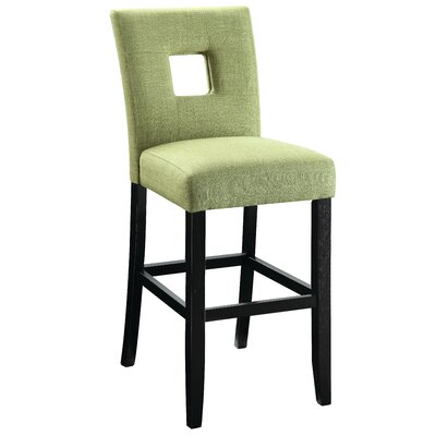 Aguila Counter Height Side Chair Upholstery: Green