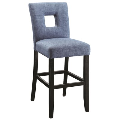 Aguila Counter Height Side Chair Upholstery: Blue