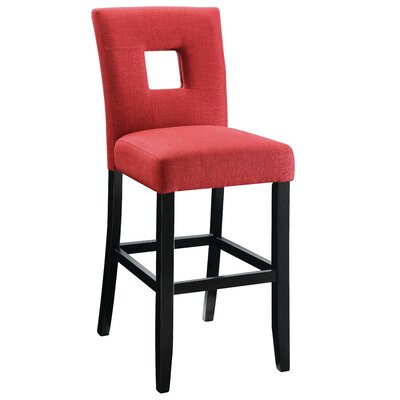 Aguila Counter Height Side Chair Upholstery: Red