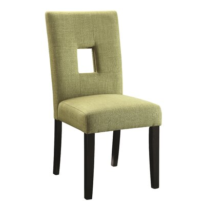 Mikah Side Chair Upholstery: Green
