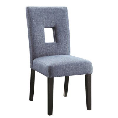 Mikah Side Chair Upholstery: Blue