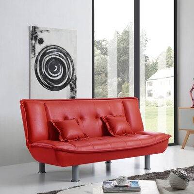 Hertford Convertible Sofa Upholstery: Red