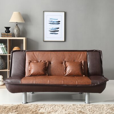 Lalani Modern Convertible Sofa Upholstery: Brown Two Tone