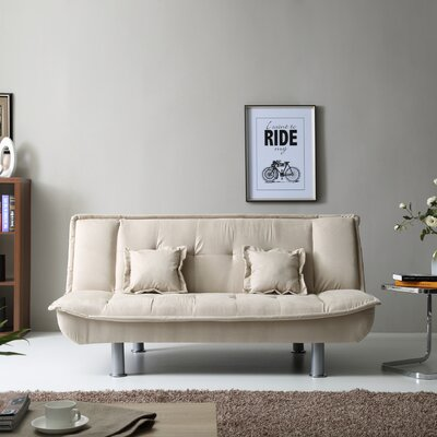 Skyee Convertible Sofa Upholstery: Vanilla