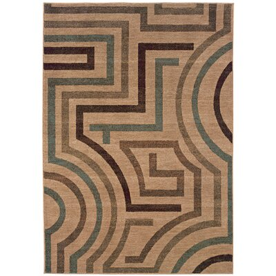 Alberts Beige/Tan Area Rug Rug Size: Rectangle 53 x 76