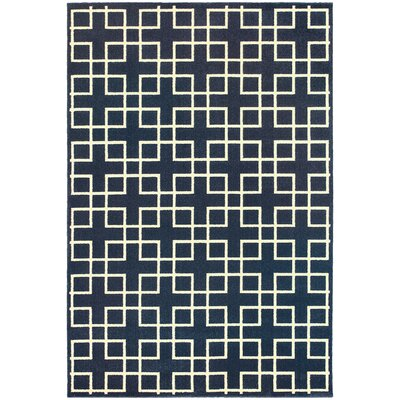 Albrecht Navy/Ivory Area Rug Rug Size: Rectangle 310 x 55