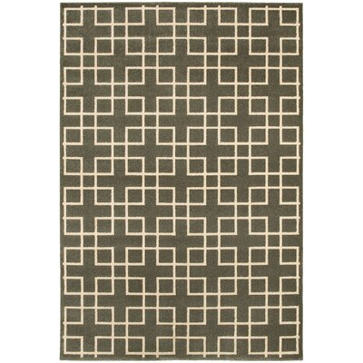 Albrecht Grey/Ivory Area Rug Rug Size: Rectangle 53 x 76