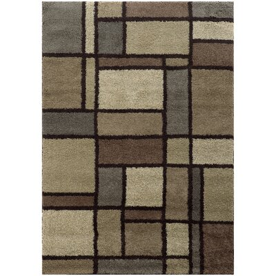 Albright Beige/Midnight Area Rug Rug Size: Rectangle 910 x 1210
