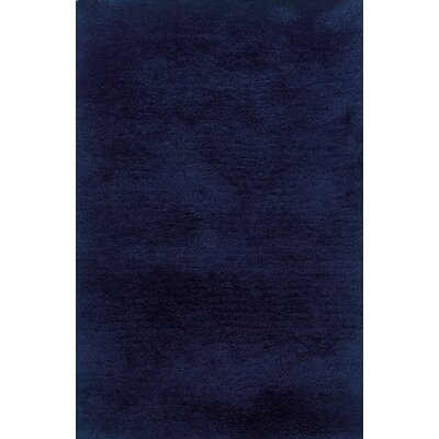 Albritton Hand-made Blue Area Rug Rug Size: 8 x 11