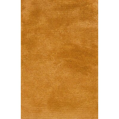 Albritton Hand-made Gold Area Rug Rug Size: 66 x 96