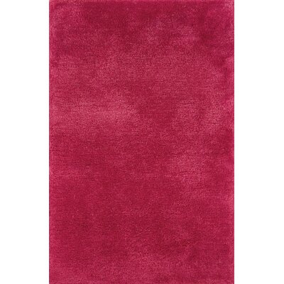Albritton Handmade Pink Area Rug Rug Size: 8 x 11