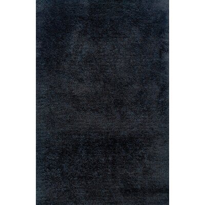 Albritton Hand-made Black Area Rug Rug Size: 5 x 7