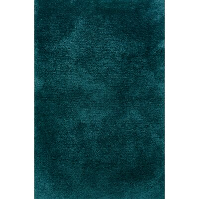 Albritton Hand-made Teal Area Rug Rug Size: 66 x 96