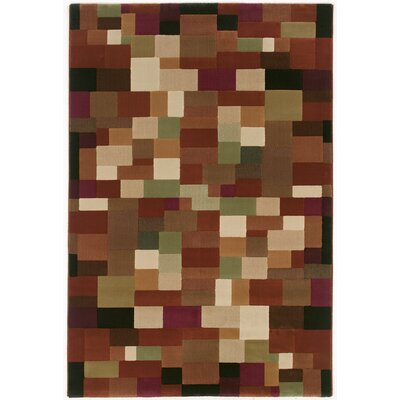Albury Rust/Beige Area Rug Rug Size: Rectangle 53 x 79