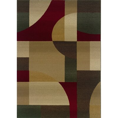 Albury Tan/Brown Area Rug Rug Size: 53 x 76