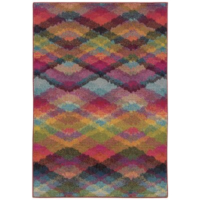 Alcantar Pink Area Rug Rug Size: Rectangle 99 x 122