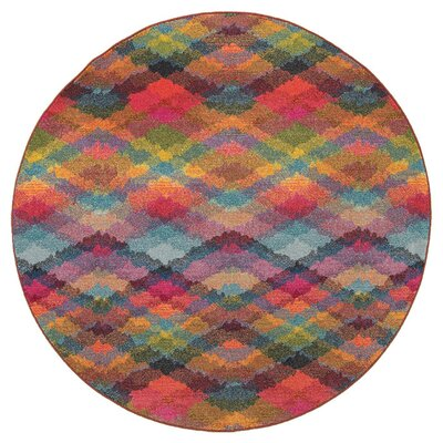 Alcantar Pink Area Rug Rug Size: Round 710