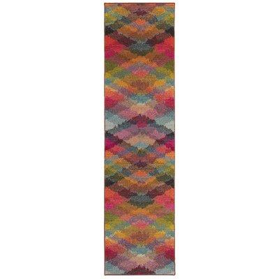 Alcantar Pink Area Rug Rug Size: Runner 27 x 10