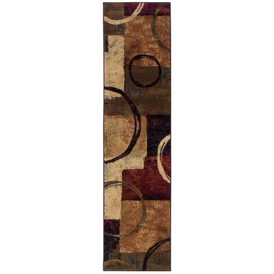 Alcazar Brown/Black Area Rug Rug Size: Runner 110 x 76