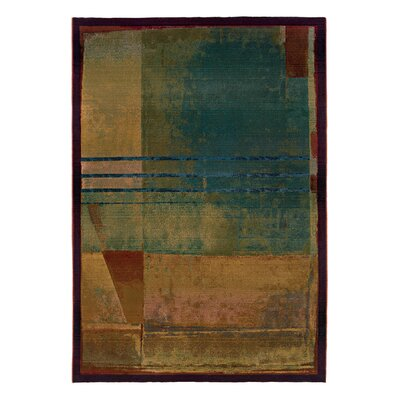 Albro Red/Green Area Rug Rug Size: Rectangle 99 x 122
