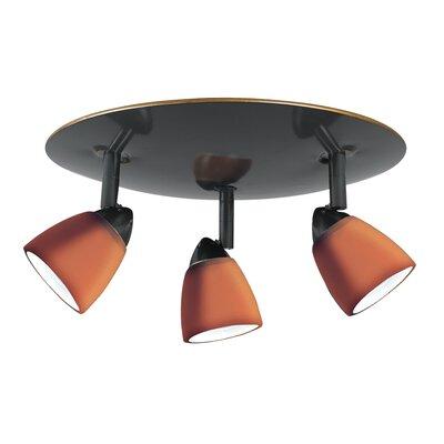 Alberto 3-Light Spotlight Shade Color: Amber Glass